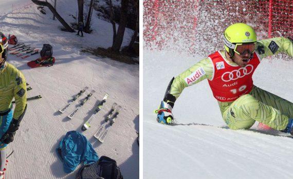 Aingeru Garay, vasco de 19 años, del Club Loma Verde, repite por segundo año consecutivo como miembro de las estructuras de alpino.